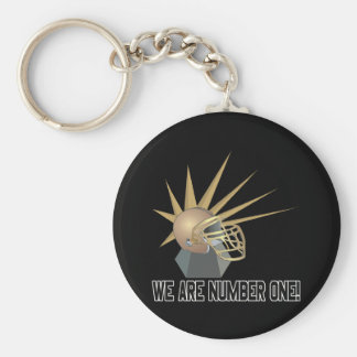 We Are Number One Basic Round Button Keychain