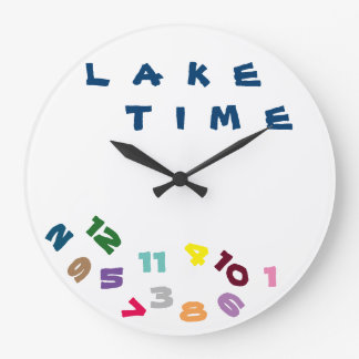 """""""WE ARE ON ***LAKE TIME***"""" WITH THIS COOL CLOCK"""