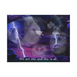 We are one and one is all canvas print