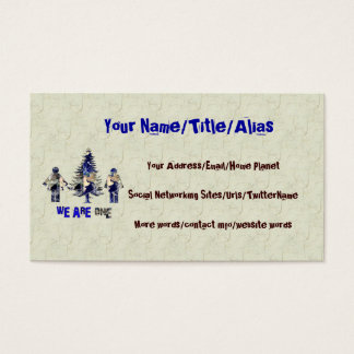 We Are One Business Card