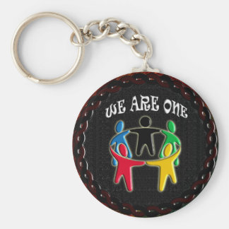 WE ARE ONE CIRCLE OF FRIENDS KEYCHAIN