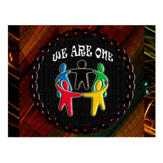 WE ARE ONE CIRCLE OF FRIENDS POSTCARD