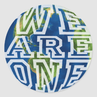 We are one classic round sticker