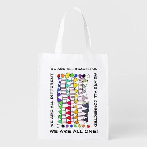 We Are One Diversity Celebration Grocery Bag
