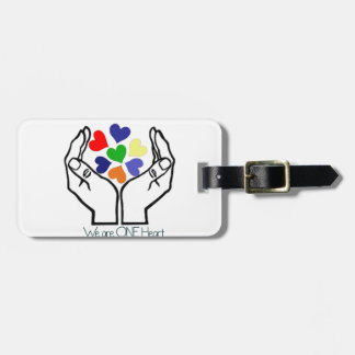 We are ONE Heart Luggage Tag