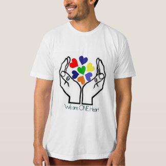 We are ONE Heart Men's Organic Tee