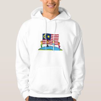 """""""We Are One Malaysia"""" by Curves Asia Hoodie White"""