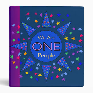 We Are One People 3 Ring Binder