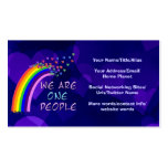 We Are One People Business Card Template