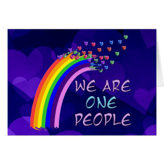 We Are One People Card