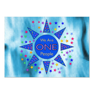 We Are One People 5x7 Paper Invitation Card
