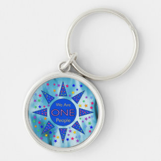 We Are One People Keychain