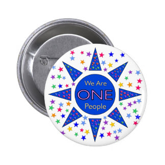 We Are One People Pinback Button