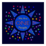 We Are One People Poster