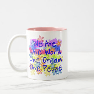 We Are One People Two-Tone Coffee Mug