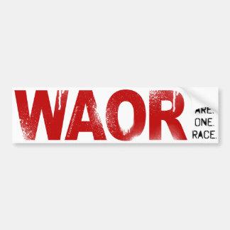 We Are One Race Car Bumper Sticker