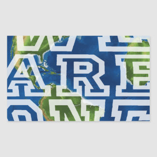 We are one rectangular sticker