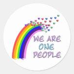 We Are One Round Sticker
