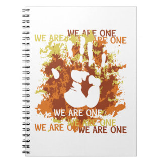 We Are One Spiral Notebooks