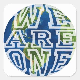 We are one square sticker