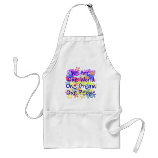 We Are One World Adult Apron