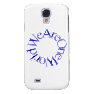 We Are One World (Blue) Galaxy S4 Case