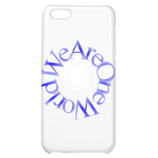 We Are One World (Blue) iPhone 5C Cases