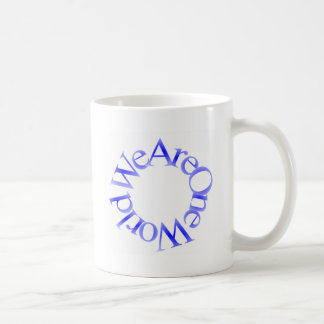 We Are One World (Blue) Mugs