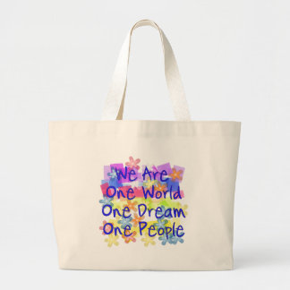 We Are One World Canvas Bag