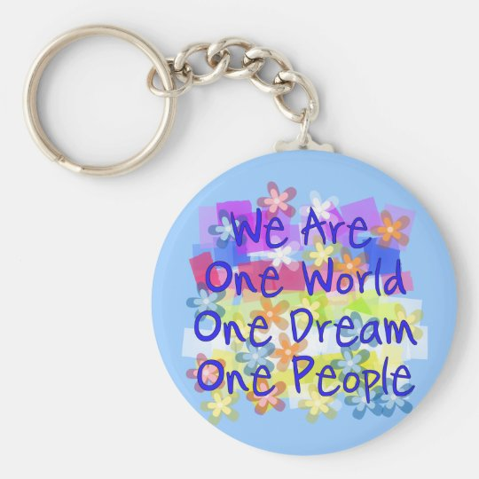 We Are One World Keychain