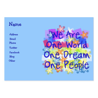 We Are One World Large Business Card