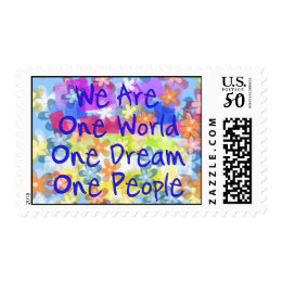 We Are One World Postage