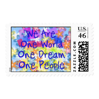 We Are One World Stamp
