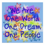 We Are One World Poster