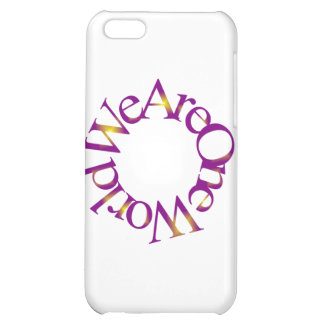 We Are One World (Purple) iPhone 5C Cases