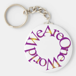 We Are One World (Purple) Key Chain