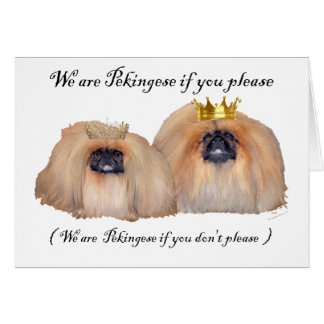 We are Pekingese Card