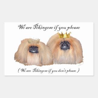 We are Pekingese Rectangular Sticker