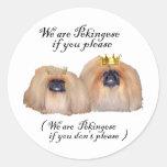 We are Pekingese Round Stickers
