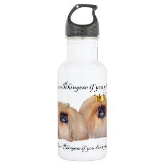 We are Pekingese Stainless Steel Water Bottle