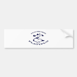 We are Platypus Bumper Sticker