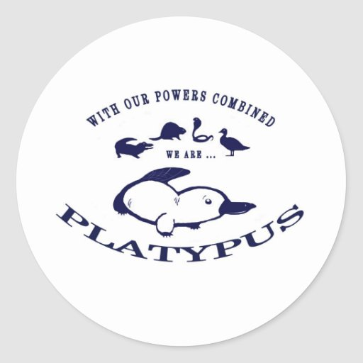 We are Platypus Classic Round Sticker