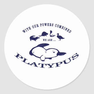 We are Platypus Round Stickers