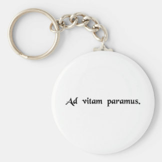 We are preparing for life keychain