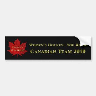 We are proud of you Canada! Car Bumper Sticker