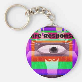 We are responsible keychain