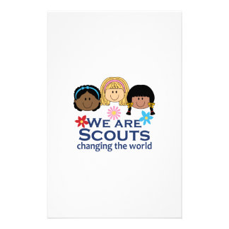 We Are Scouts Changing The World Stationery
