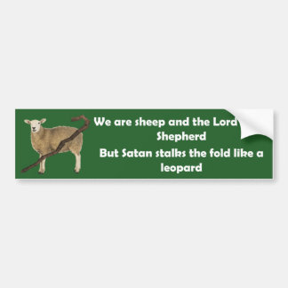 We Are Sheep Bumper Sticker