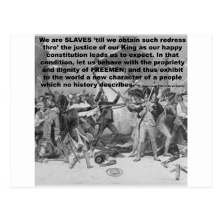 We are SLAVES 'till we obtain such redress Postcard