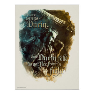 We Are Sons Of Durin Poster
